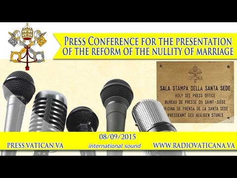 Press Conference for the presentation of the reform of the nullity of marriage 2015.09.08