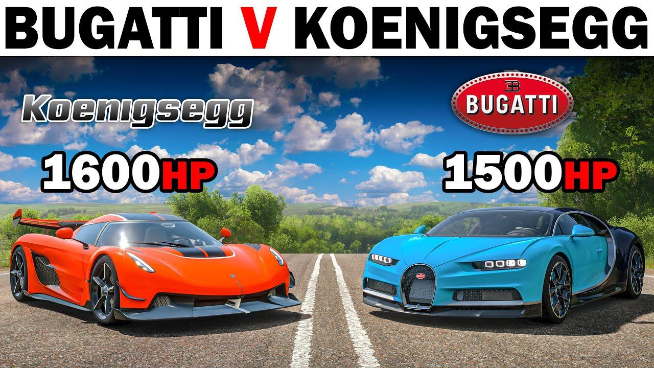 Forza Horizon 4   Bugatti VS Koenigsegg   The Ultimate Battle