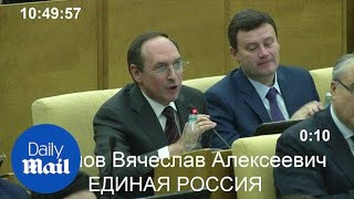 Russian parliament applauds election of Donald Trump - Daily Mail