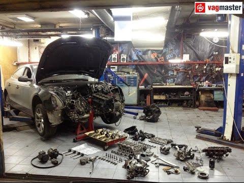 Снятие двигателя Audi A5 за одну минуту