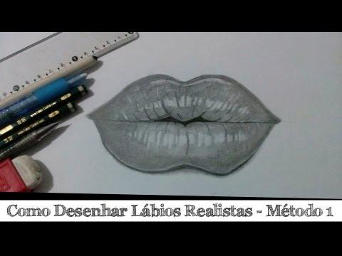 Como Desenhar Labios Realistas Metodo 1 Youtube
