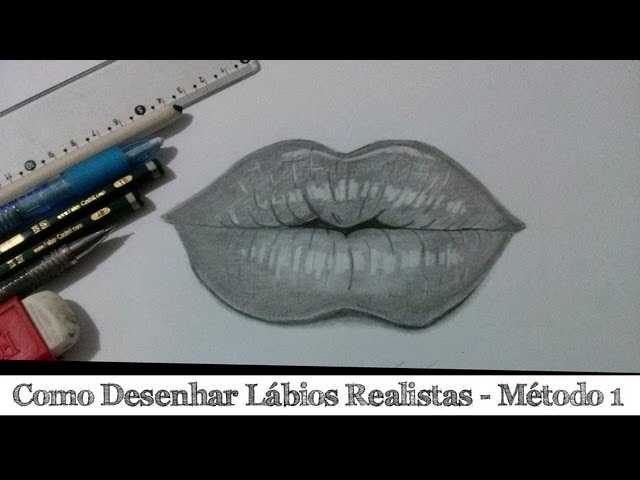 Aprenda Desenhar Lábios 1