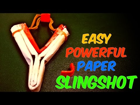 How to Make a Paper Slingshot Easy and Strong - Paper Weapons