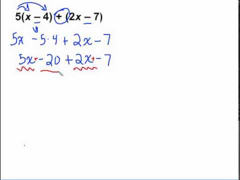 5.6 Adding Linear Expressions (Part 2) - YouTube