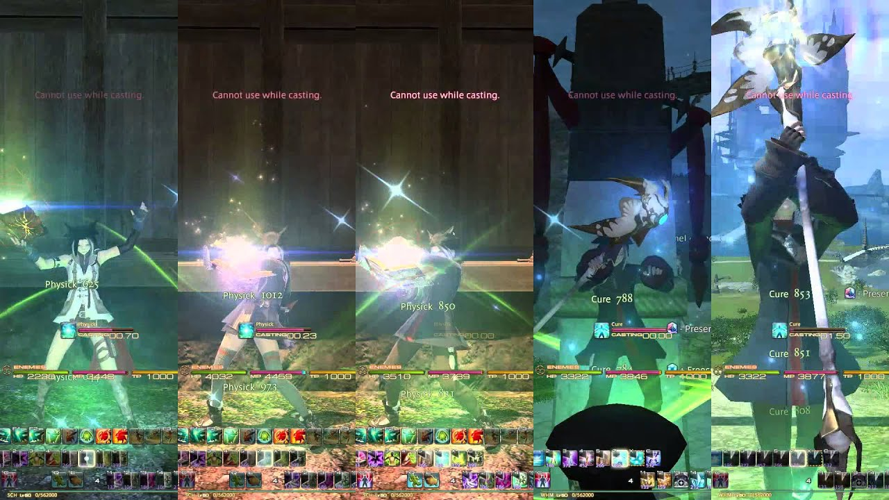 FFXIV 2 1 - Spell Speed Differences