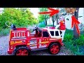 Max and funny stories with Fire truck