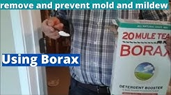 How to remove and prevent mold and mildew from wood cabinets using Borax