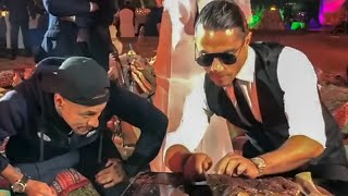 Neymar Enjoy Salt Bae Very Expensive Steak In Doha...