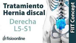 Tratamiento de la hernia discal L5 y S1 derecha o quinta lumbar y sacro