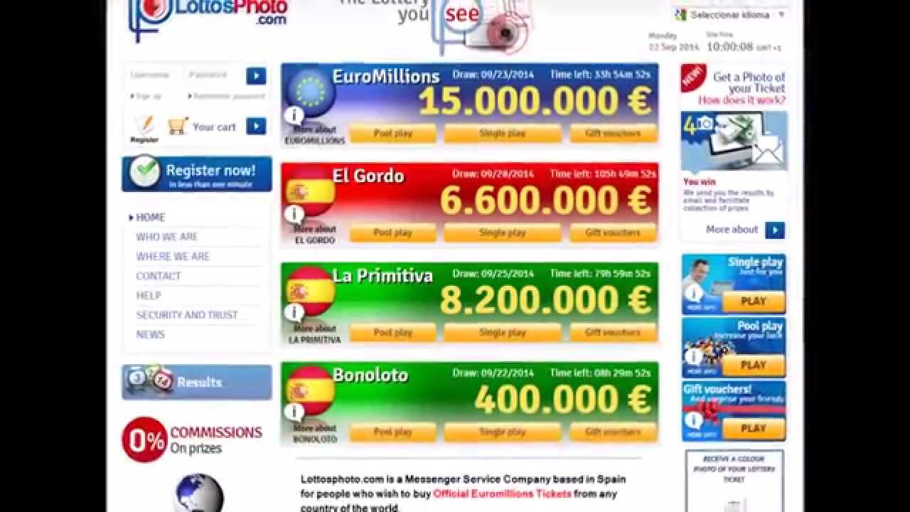 Play EuroMillions and Spanish Lottery - Lottosphoto com