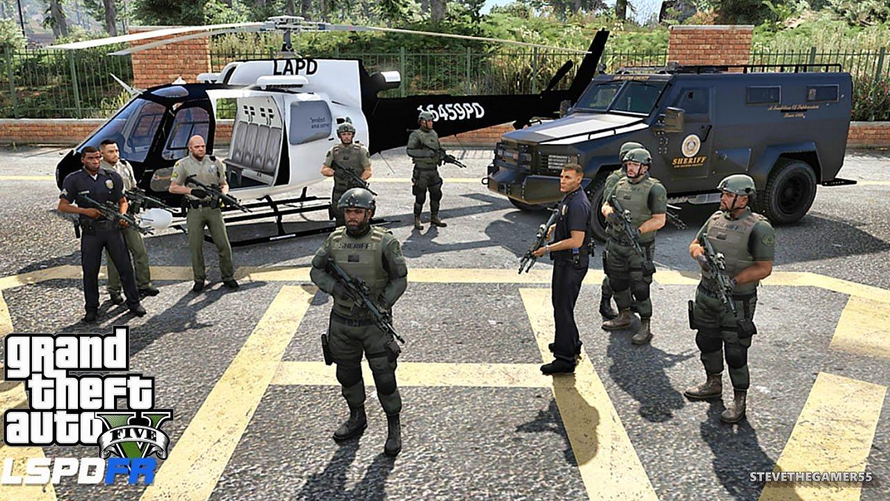 GTA 5 LSPDFR 0 3 1 - EPiSODE 305 - LET'S BE COPS - SHERIFF SWAT PATROL (GTA  5 PC POLICE MODS)