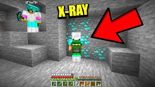 My minecraft friend caught me using xray