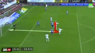 Cristiano Ronaldo jump 2,6 meter to score a goal against deportivo