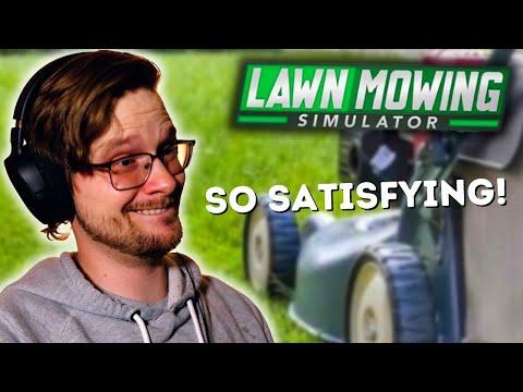 LAWN MOWING SIMULATOR | This Game Is Soooo Satisfying! |
