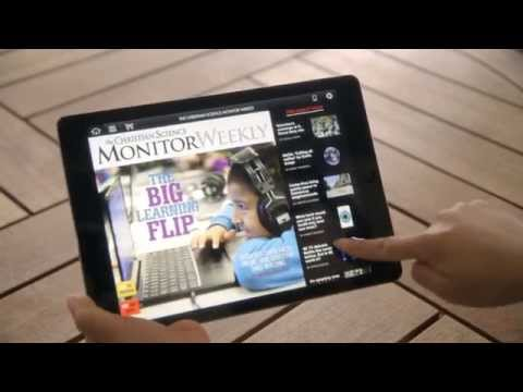 How to use the Christian Science Monitor tablet app
