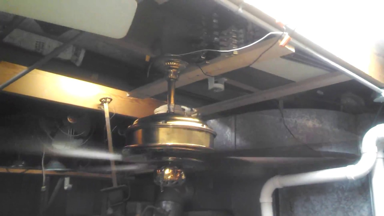 1970s Ceiling Fan : Unknown make solid brass ceiling fan from the s youtube