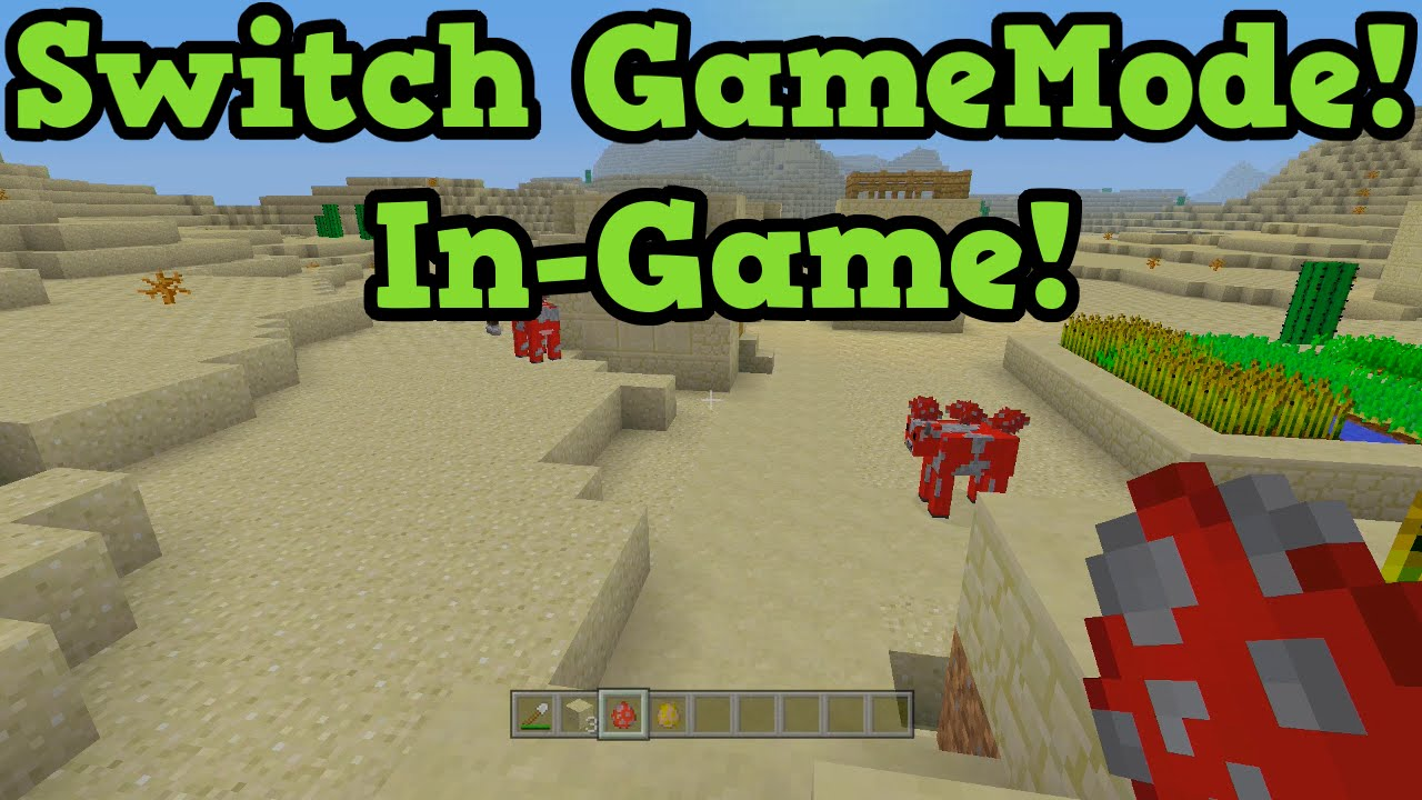 minecraft pc how to change game mode