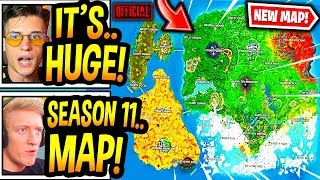 """Streamers React To *NEW* """"OFFICIAL"""" SEASON 11 MAP! (CONFIRMED) Fortnite Moments"""