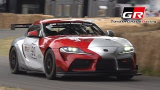 Toyota GR Supra GT4 Concept in Action at Goodwood FOS 2019!