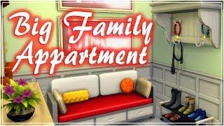 Квартира для большой семьи // The Sims 4 // Строительство