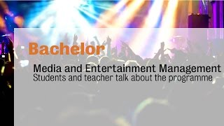 Bachelor programme media and entertainment management at inholland university - students and teacher