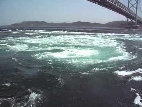 鳴門海峡渦潮・うずしお観測船 干潮 Naruto Strait Japan Whirling Current Whirlpool