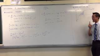 Areas Under Curves: Logarithmic Functions
