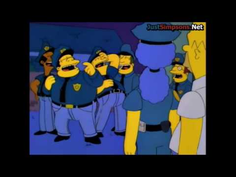 The simpsons marge quits the police force youtube - Police simpsons ...