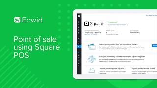 In this video, we demonstrate how you can connect your ecwid control panel to the square pos. with connection, sync products, inventory and...