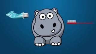 Бегемот Мотя чистит зубы | Развивающий мультик для детей