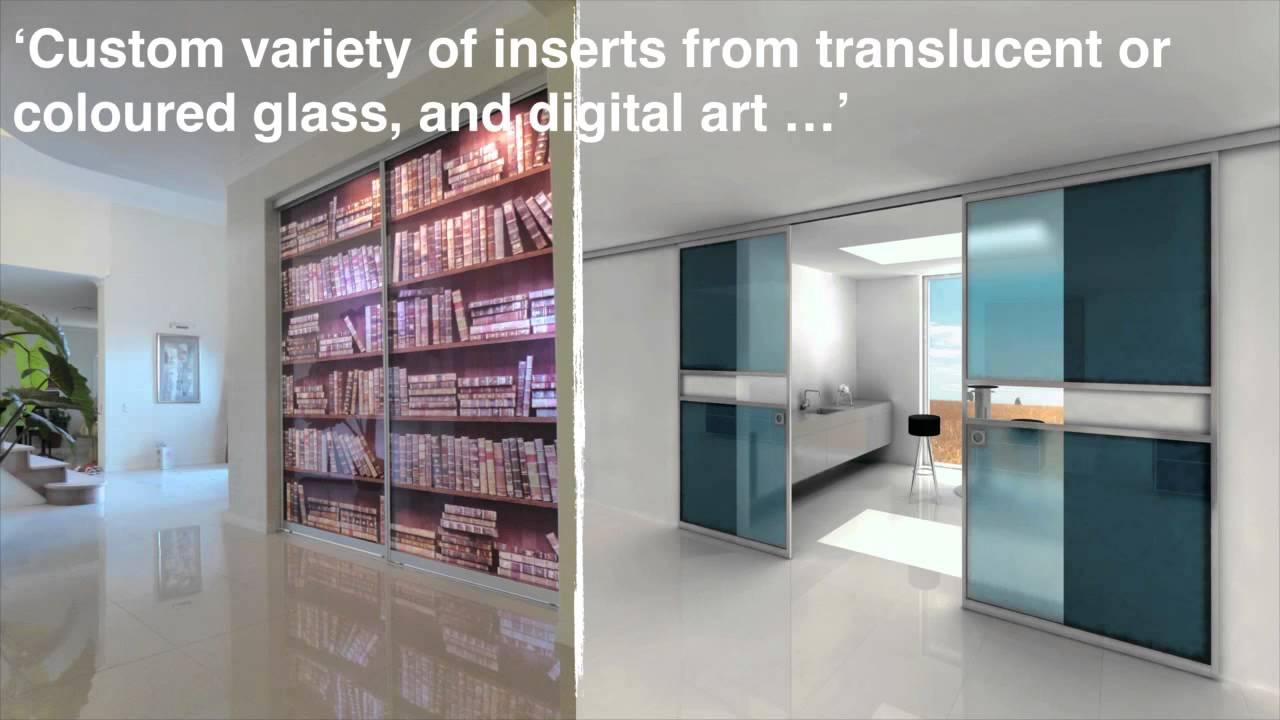 Internal Glass Sliding Doors In Glass Design Youtube