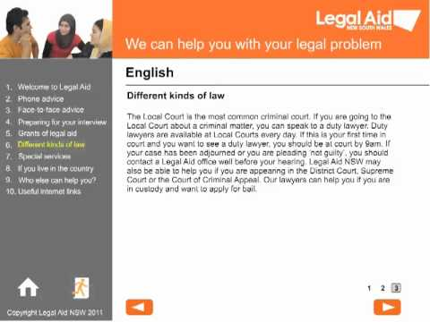 Welcome to Legal Aid - English