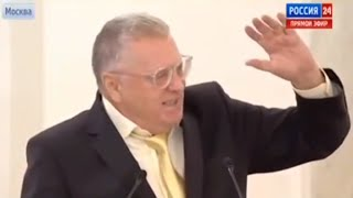 Russian politician Zhirinovsky speaks at Federation Council (English subs)