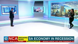 BREAKING : SA economy in technical recession