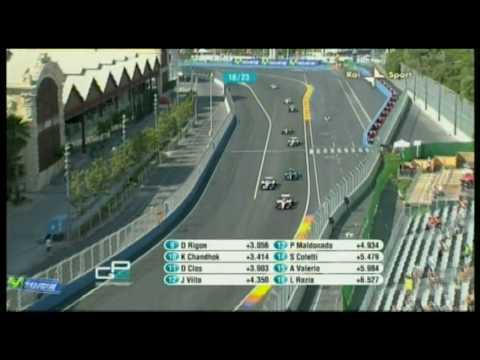 GP2 Valencia- Mortara idiotic move