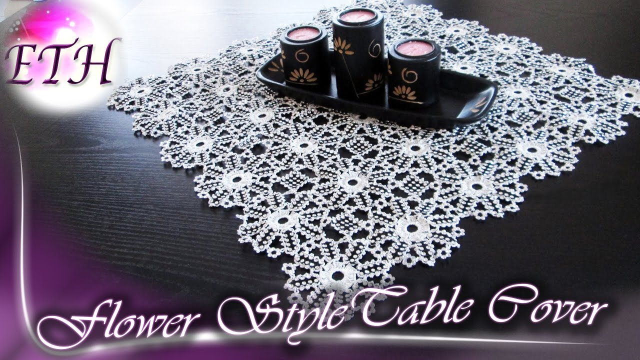 How to make a table cover using Crystal ribbon| Crochet Work : how to make a table cover - amorenlinea.org