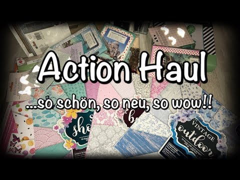 XL Action Haul (deutsch) neue Blöcke, neue Bastelideen, DIY Scrapbook
