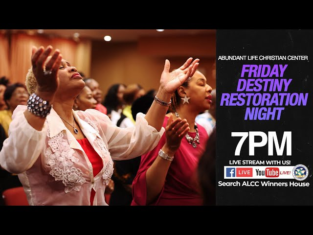 Friday Destiny Recovery Night | Drs. Festus & Anthonia Adeyeye | ALCC Winners House