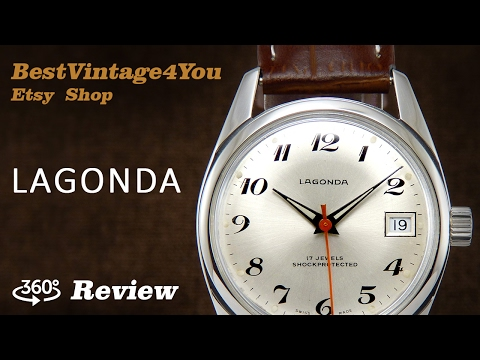 Hands-on video Review of Lagonda Swiss Watch From 70s