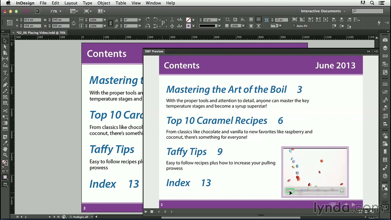 Interactive PDF tutorial: Placing video in a PDF | lynda.com - YouTube