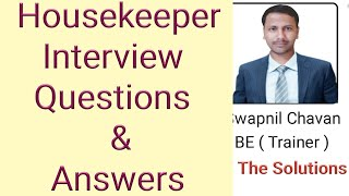 housekeeper interview questions and answers in hindi 2018 | housekeeping training video in hindi