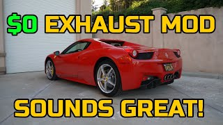 make the FERRARI 458 SOUND INCREDIBLE for FREE with this simple DIY TIP