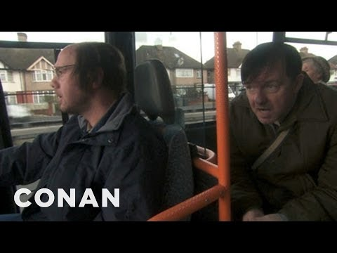 "Ricky Gervais On His Elderly ""Derek"" Co-Stars - CONAN on TBS"