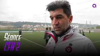 Séance d'entraînement avec la CFA2 de l'OGC Nice