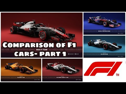 F1 2018 cars compared! Part-1! F1 2018 Game! Enertia Gaming |