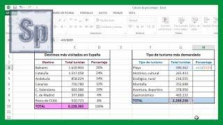 Excel - Cálculo de porcentajes. Cálculo tanto por ciento en Excel. Tutorial en español HD thumbnail