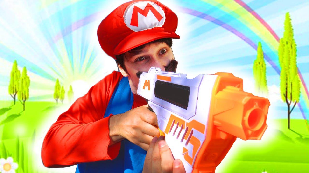 Mario VS Luigi In Real Life (Super Mario Bros Obstacle Course)