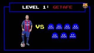 Getafe goal: Messi scores as if he were Pac Man