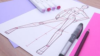Cómo dibujar figurines de moda: pose de frente