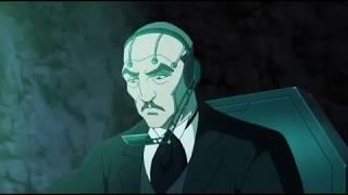 Альфрэд использует голограму Брюса Уэйна для совета деректоров (Бэтмен: Дурная кровь 2016)